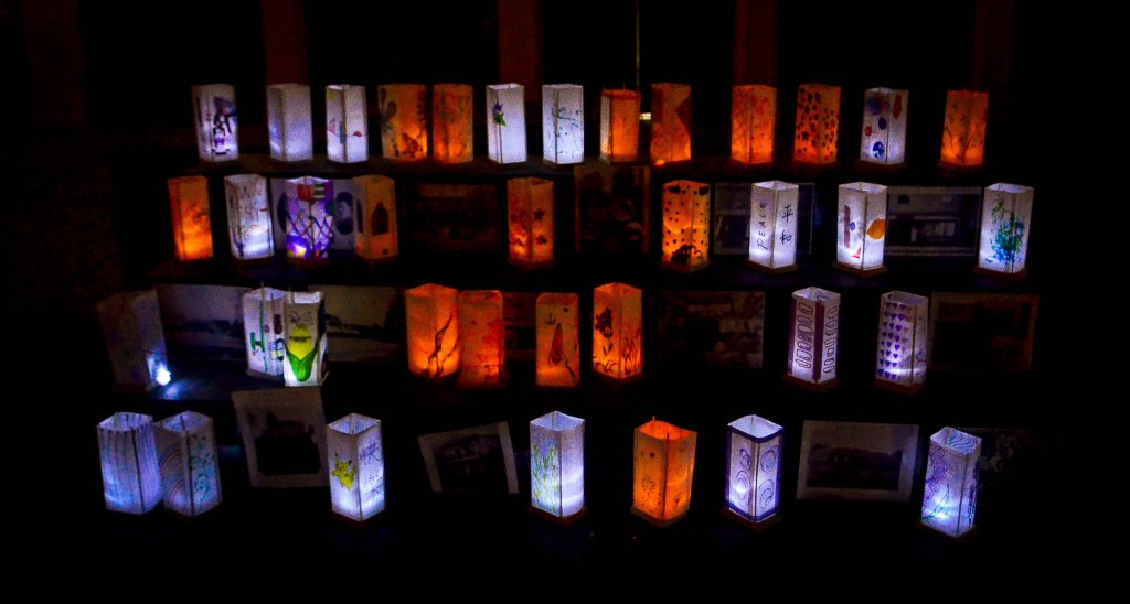 Luminarias on the altar