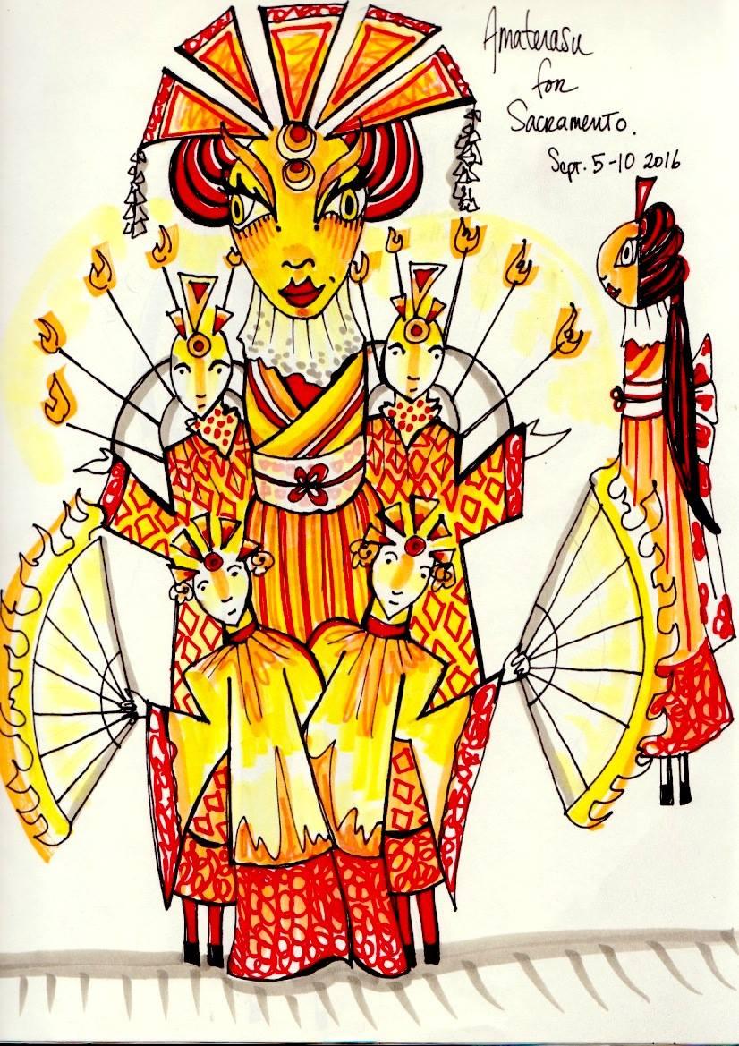 Amaterasu Concept Art by Nadia Hagen