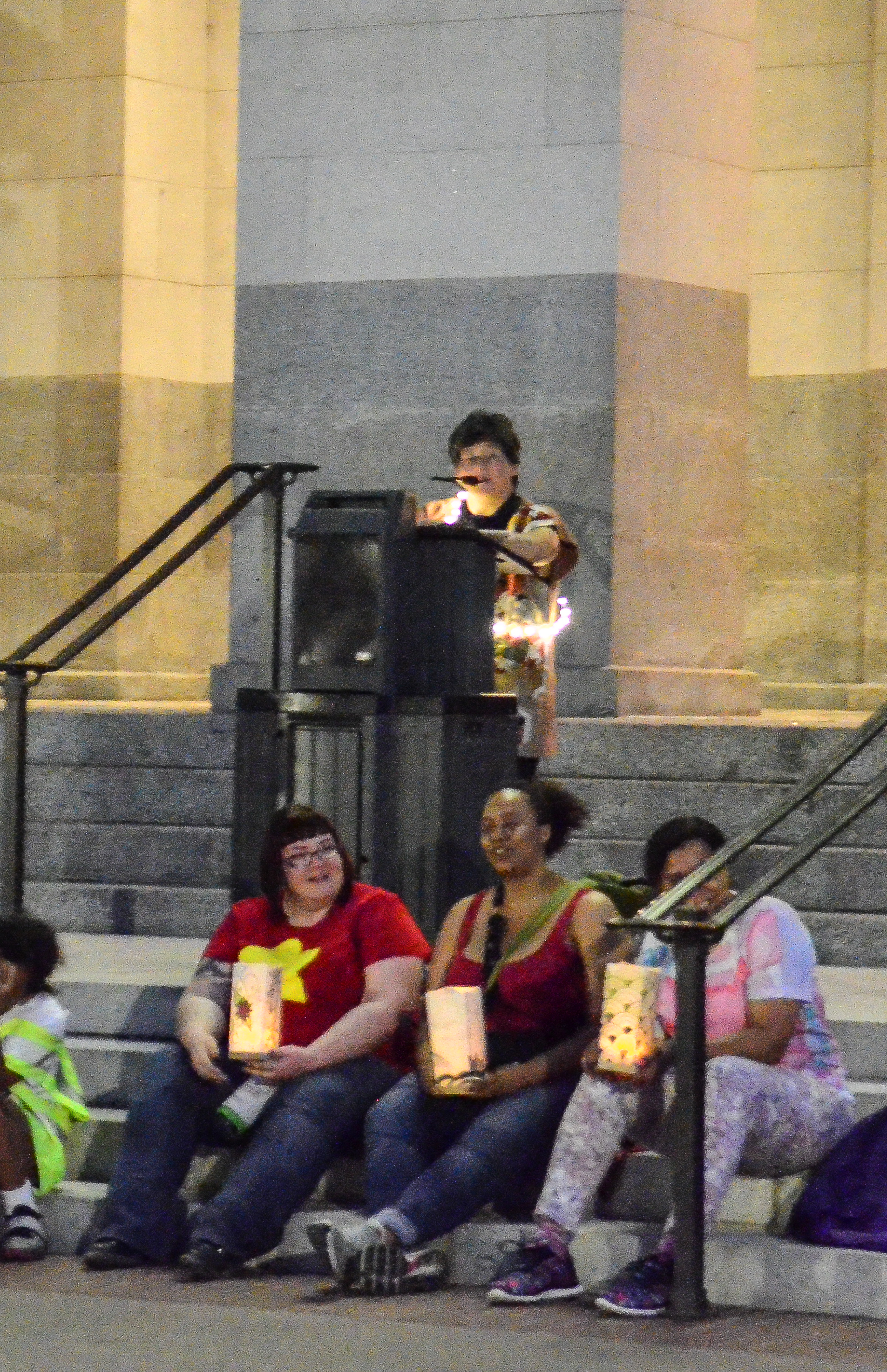 Tiffany speaking at the Capital